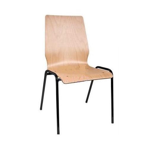 1158 LN falemezes szék fekete fémvázzal