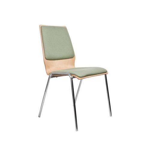 1158 TLC falemezes szék szövetes betétekkel krómozott fémvázzal