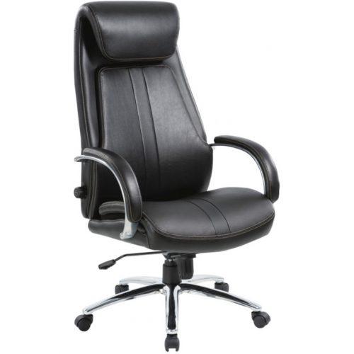 Midland vezetői fotel fekete textilbőrrel,135 kg-os teherbírással