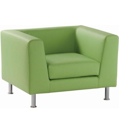 Notre Dame 100 -  minimal stílusú fotel krómozott fémlábakkal, választható kárpitozással