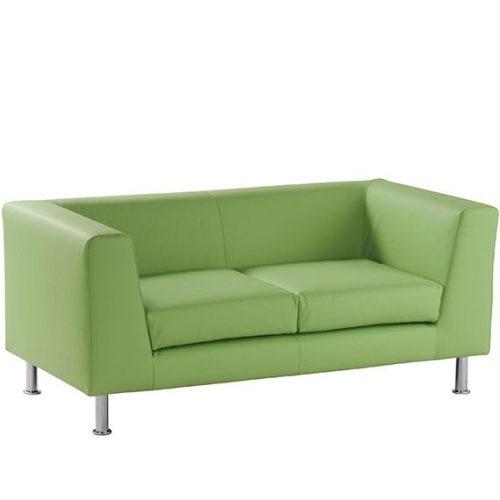 Notre Dame 102 -  minimal stílusú kétszemélyes kanapé krómozott fémlábakkal, választható kárpitozással