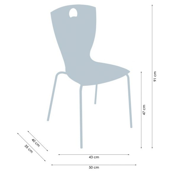 Elena A Krómozott fémvázas éttermi szék