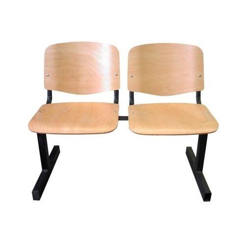 ISO 2P Wood várótermi pad fa ülő- és hátlappal
