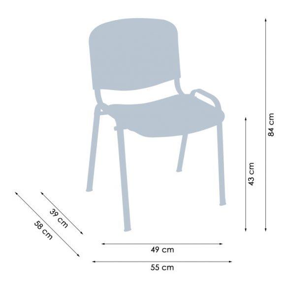 Iso Colorplast Nero vendégszék műanyag ülő- és hátlappal
