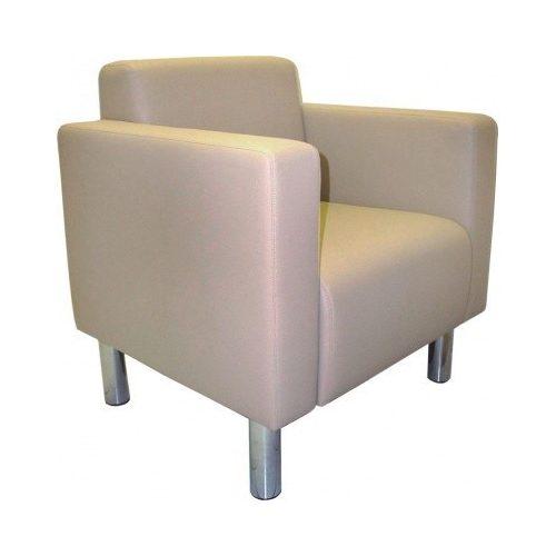 Minit Cubo Crom vendég fotel kárpitozott kivizelben, krómozott lábakkal