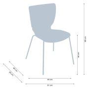 Mono Colorplast fémvázas szék műanyag palásttal