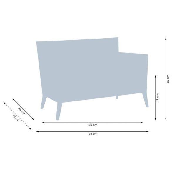 Monza 2180 karfás, favázas kanapé kárpitozott kivitelben