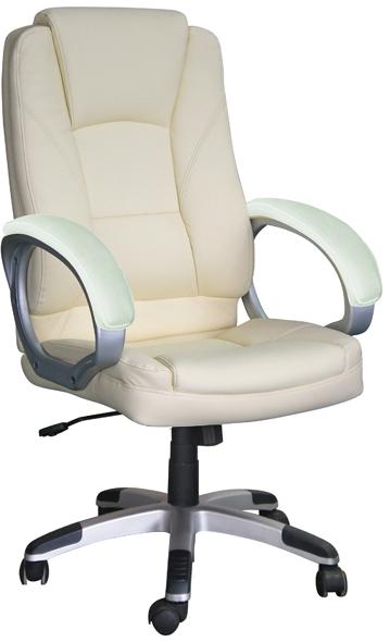 Egyszerű vezetői fotel fix karfával, kartámasszal