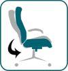 A fotel billegése Eco hintafunkció segítségével állítható