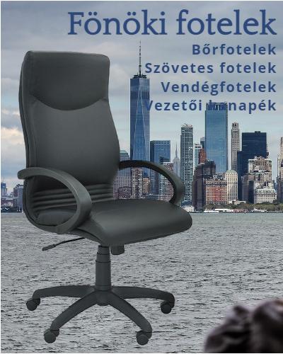Vezetői bőrfotelek, szövetes fotelek és vendégfotelek