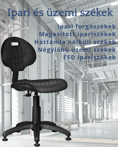 Ipariszék, forgószék, üzemiszék és ESD szék kínálatunk