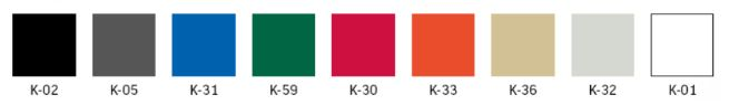ISO Plastic étkezőszék, laborszék színválasztéka