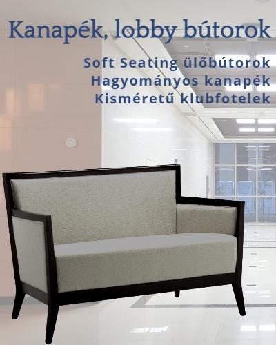 Hagyományos kanapé, klubfotel és lobbí ülőbútor