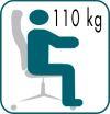 Az irodaszék teherbírása 110 kg